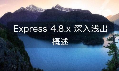 Express 4.8.x 概述